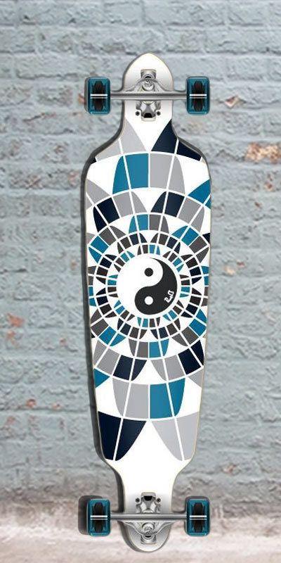 """Longboards USA - Punked Yin Yang Drop Through Longboard 40"""", $107.00 (http://longboardsusa.com/punked-yin-yang-drop-through-longboard-40/)"""