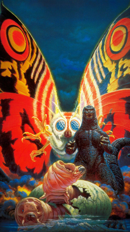 Godzilla vs. Mothra (1992) Phone Wallpaper   Moviemania