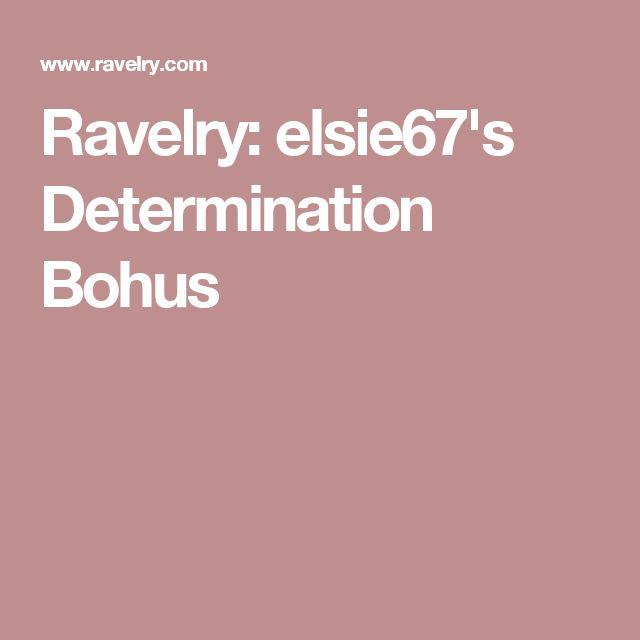 Ravelry: elsie67's Determination Bohus