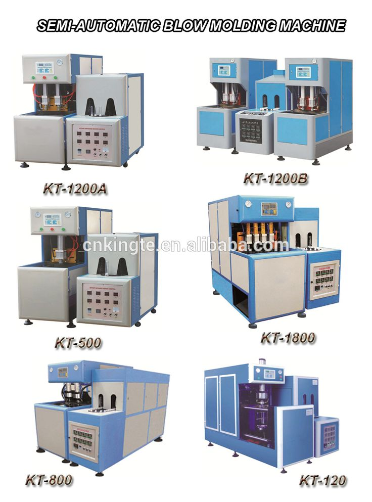 2-cavity pet bottle semi auto blow molding machine
