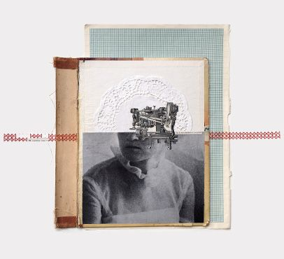 Rhed Fawell - 'Cutting the past' - Collage 2016
