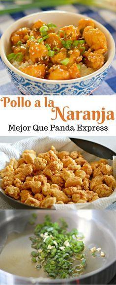 Si te gusta comida china, entonces te encantara este pollo a la naranja que tiene mejor sabor que el de Panda Express!