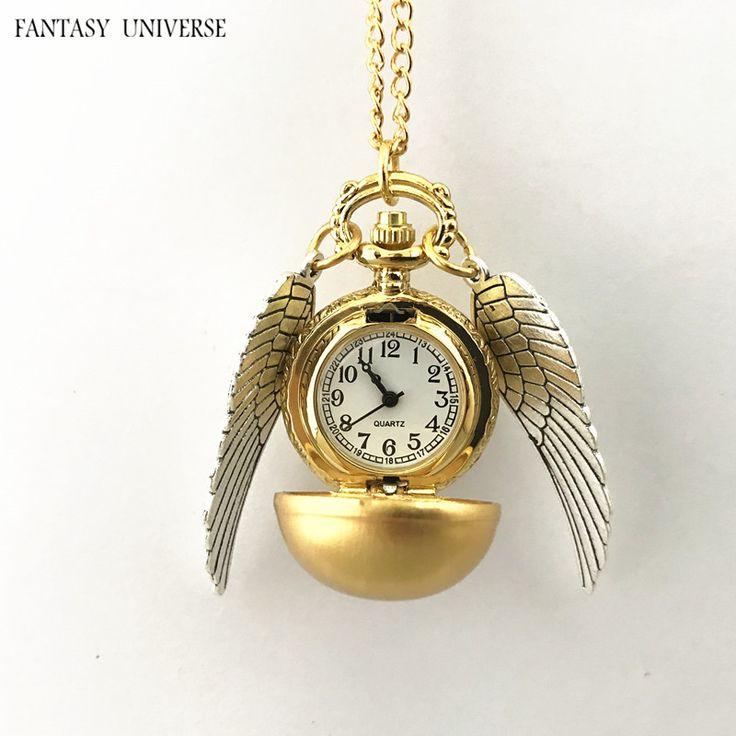 """Лучший продукт из Китая - купить """"фэнтези-Вселенной freeshipping оптовые 20шт много Золотой Снитч карманные часы ожерелье Dia47mm QLZHBB08"""" всего за 79 долларов."""