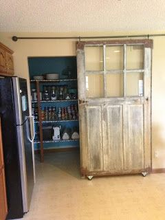 Pantry Redo with a sliding carriage/barn door!