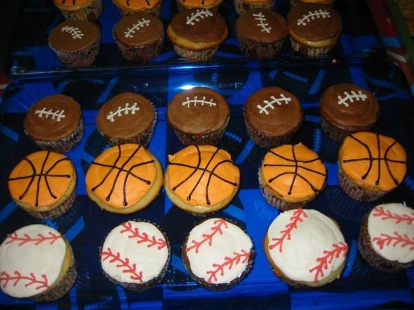 Sports Parties, Sports Birthday, Theme Cupcakes, Sports Theme, Theme Parties, Boys Birthday, Parties Ideas, 2Nd Birthday, Boy Birthday Parties
