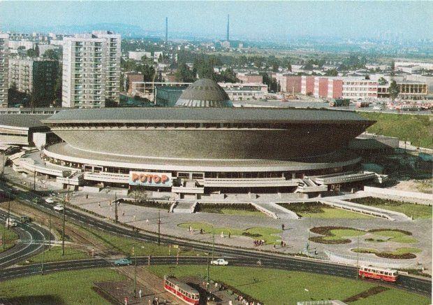 Katowicki Spodek w czasach PRL-u. Zdjęcie ze zbiorów Marka Wójcika #katowice #PRL #spodek