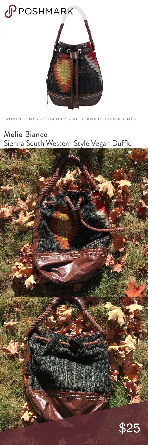 Melie Bianco Soutwest Hobo Bag The perfect bag for fall.  Trendy tribal print bag with awesome fall colors. 🍂🍁🍂🍁🍂 Melie Bianco Bags Hobos