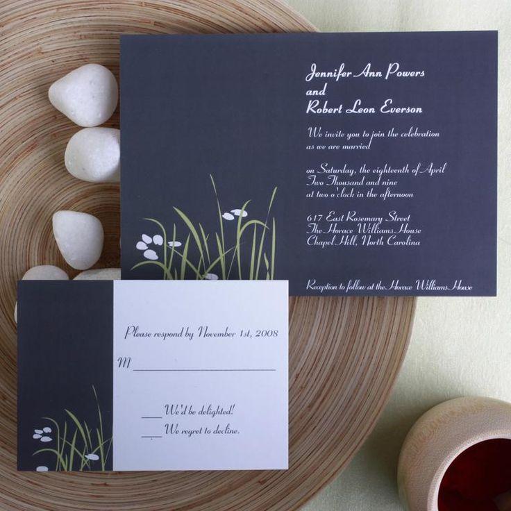 ネイビーの紙に白い文字がナチュラルかわいい♪ ネイビーの結婚式招待状のまとめ。センスがいい招待状一覧。