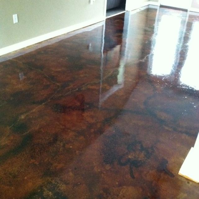 Acid Etched Concrete Floor Floor Flooring Concrete