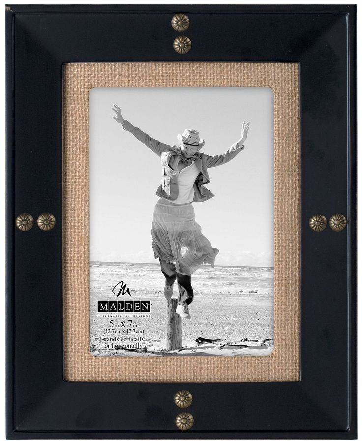 Nailhead Burlap Picture Frame