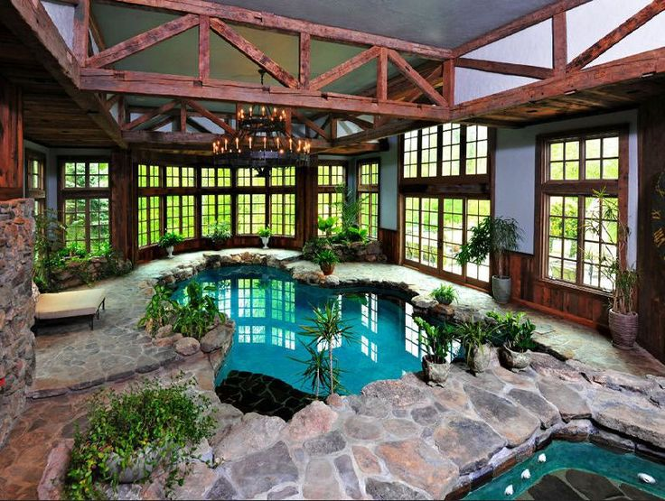 476 best images about pool hot tub on pinterest luxury for Luxury house plans with indoor pool