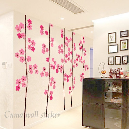 1000 ideas about flower wall decals on pinterest wall for Cherry blossom wall mural stencil