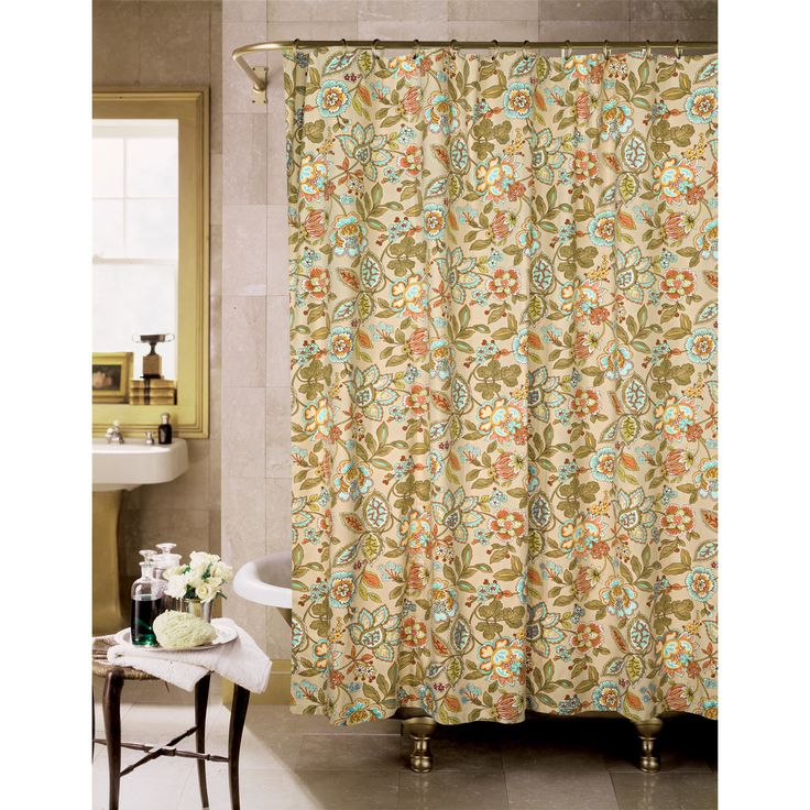 The Tuscan Garden Cotton Shower Curtains Is A Great Way To Add An Instant Update