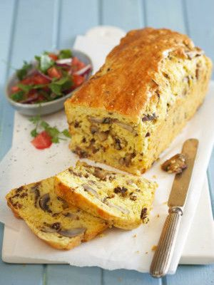 Mushroom, Biltong And Cheddar Loaf #BakingMemories