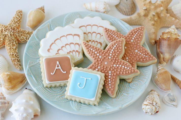 beach wedding cookies: Beaches, Sweet, Wedding Ideas, Beach Theme, Beach Weddings, Wedding Cookies, Party Ideas