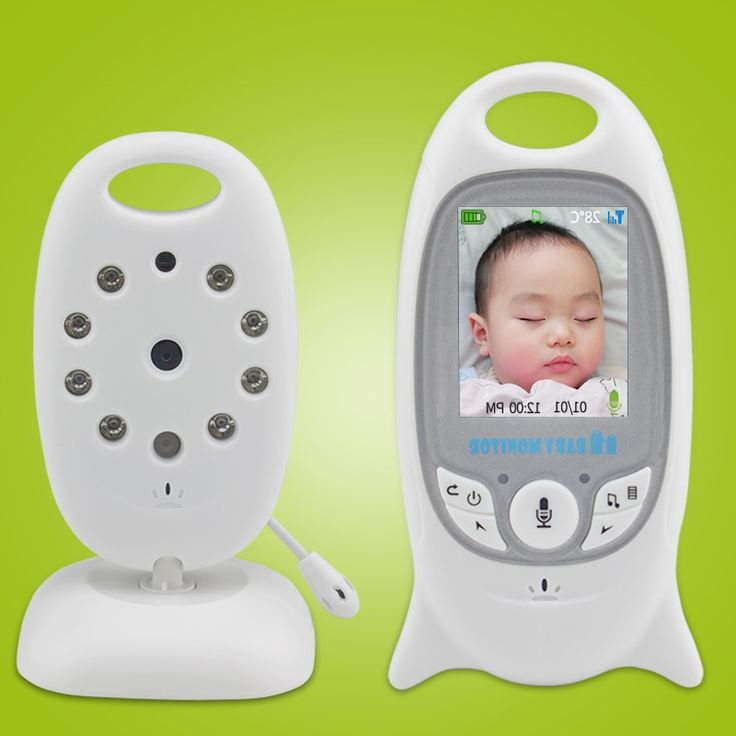 38.06$  Buy now - http://alinr4.worldwells.pw/go.php?t=32297450489 - Wireless Video 2.0 inch Color Baby Monitor Security Camera 2 Way Talk NightVision IR LED Temperature Monitoring with 8 Lullaby 38.06$