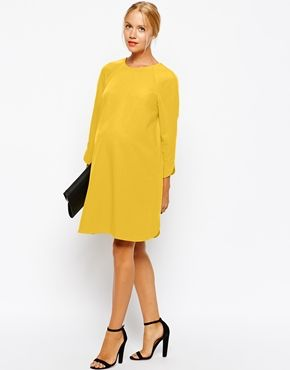 Enlarge ASOS Maternity Shift Dress In Crepe With Cut Out