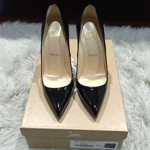 Shop Women's Christian Louboutin Black Red size 6.5 Heels at a discounted price at Poshmark. Description: Worn only for a few hours.. Just too high for me. Bought in Las Vegas in Christian louboutin boutique at Caesars palace. Comes with receipt/box/ dustbag. Sold by radhix0. Fast delivery, full service customer support.