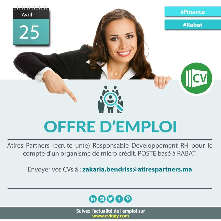 #Atires_Partners #Recrutement_Rabat #Emploi_Rabat #Responsable #Développement_RH #DRH #microcrédit  #Design_CV: http://www.cvlogy.com/design-cv?utm_content=buffer712de&utm_medium=social&utm_source=pinterest.com&utm_campaign=buffer