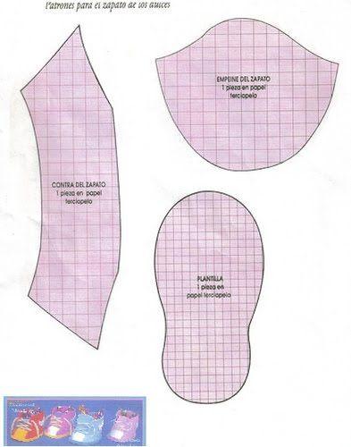 Resultado de imagen para moldes de zapatitos de bebe en goma eva