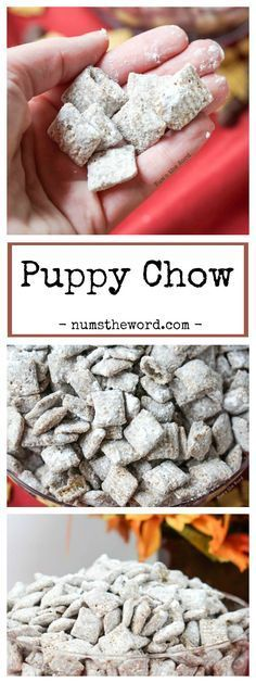 This Puppy Chow Chex Mix, also known as Muddy Buddies is a simple, almost fool proof treat anyone can whip up! Kid friendly and makes great gifts! #puppychow #chexmix #chex #snackmix #dessert #glutenfree #appetizer #snack #partyfood #gameday #tailgate #chocolate #peanutbutter #recipe #numstheword