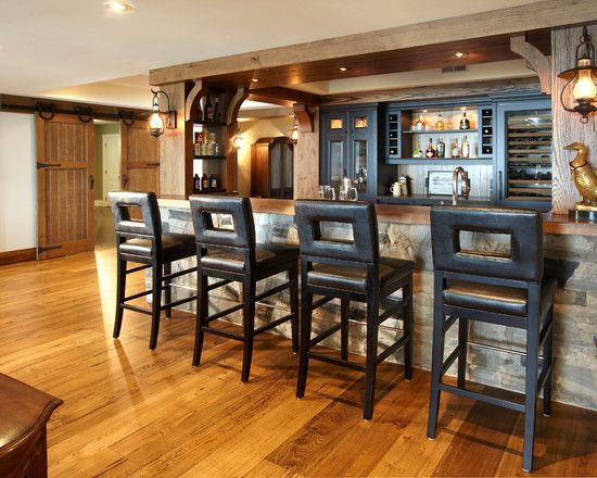 Fantastic Rustic Cottage Interior Decoration: Awesome Trditional Basement  Home Bar The Cottage Design