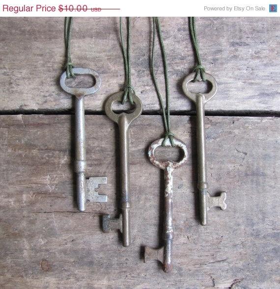 Treat Yo Self SALE // antique skeleton key by MouseTrapVintage, $7.50