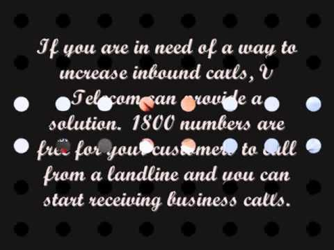 1300 and 1800 numbers are a tool for the business to use in marketing VTELECOM help and to convey a professional appearance to customers and improve your calls and sales performance.   For more information, visit us:-  https://www.vtelecom.com.au/1300-1800-phone-words/
