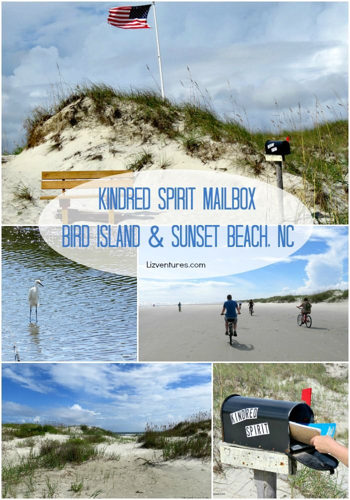 Travel to the Kindred Spirit Mailbox - a very special place on Bird Island and Sunset Beach NC for visitors to sit, read, reflect and share whatever is on their heart.