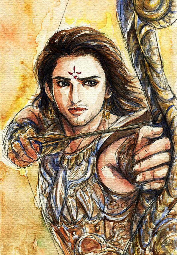 Fanart of Arjuna,Mahabharat,by Snowcandy.CC:BY-NC-ND