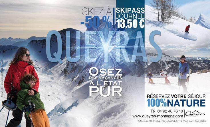 Occasioni di viaggio per gli amanti della neve: il suggestivo Parco Naturale del Queyras, nel Monviso francese, e le sue splendide piste da sci. Fino al 30 gennaio (e dal 14 marzo al 6 aprile 2015) -50% sullo skipass giornaliero! #segretodacondividere #Francia #sci