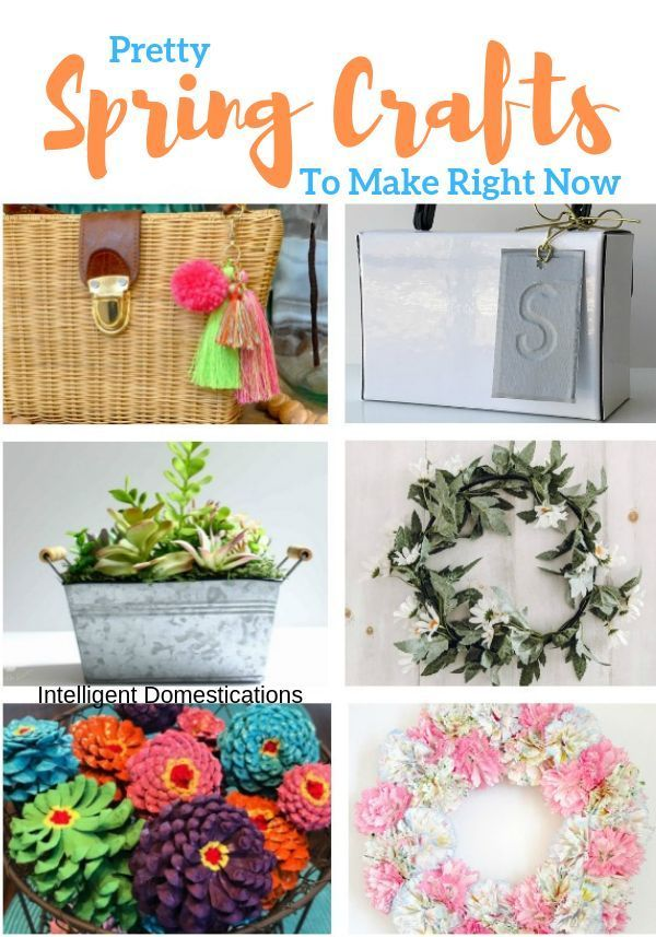 A Week Of Spring Craft Ideas Merry Monday 244 Diy Spring Crafts Spring Diy Spring Crafts