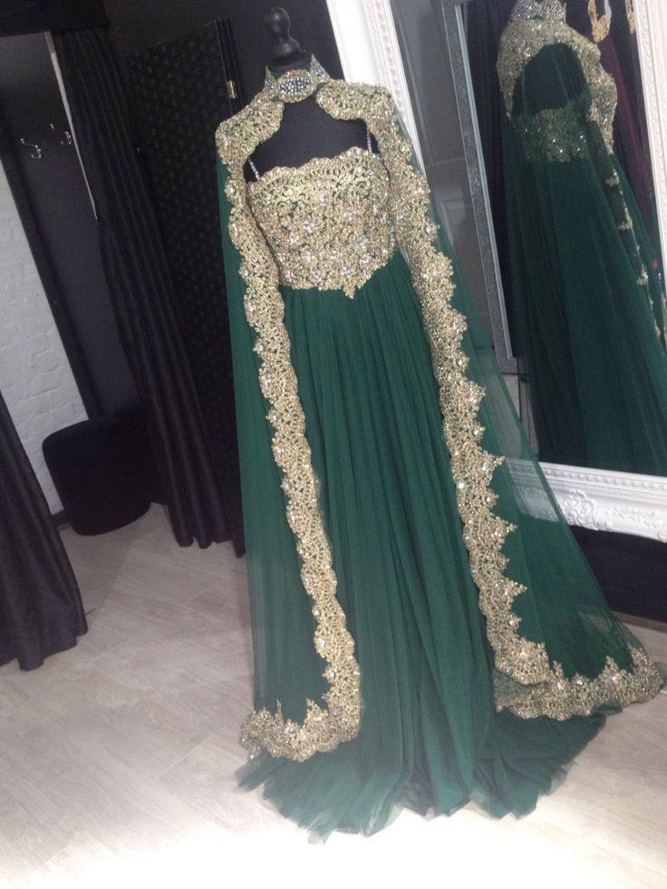 Hot arabe robes de soirée robes marocaine Kaftan cristal musulmane robes de  soirée turque femmes vêtements