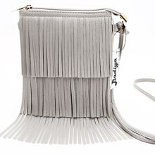 Vintage Women Shoulder bags PU Leather Tassel Handbags Zipper Crossbody Bag Lady…