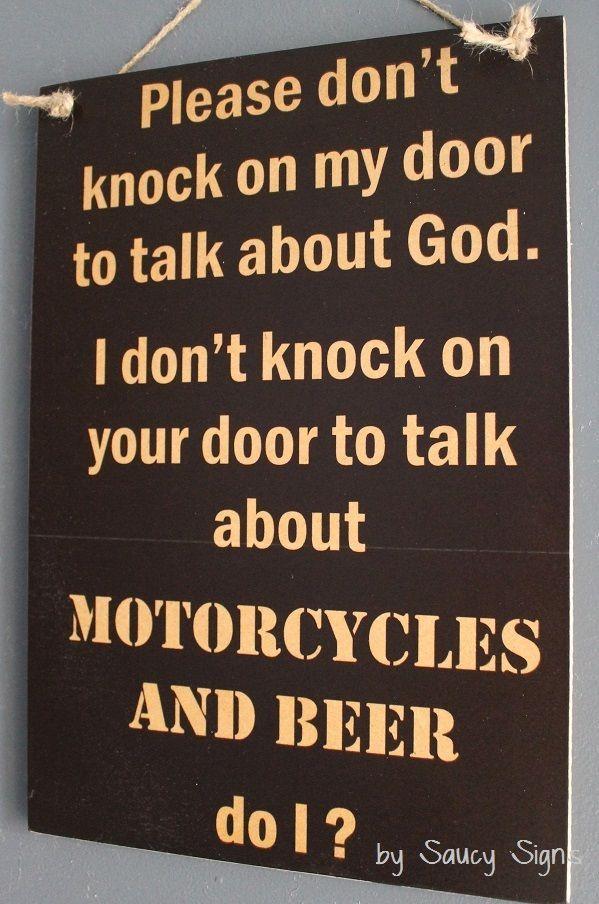 No Soliciting God Motorcycles And Beer Door Sign Biker Harley Davidson Bar Door Signs No Soliciting No Soliciting Signs