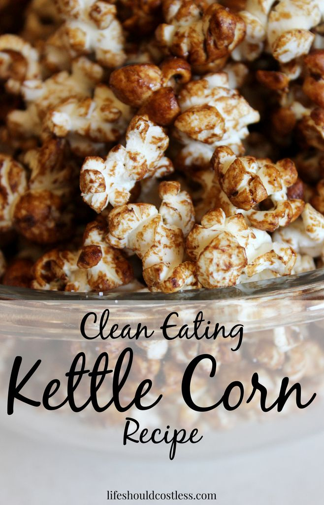 Kettle Corn made with only whole (real food) ingredients. No processed junk here and it is SO DELICIOUS! #cleaneating  {lifeshouldcostless.com}