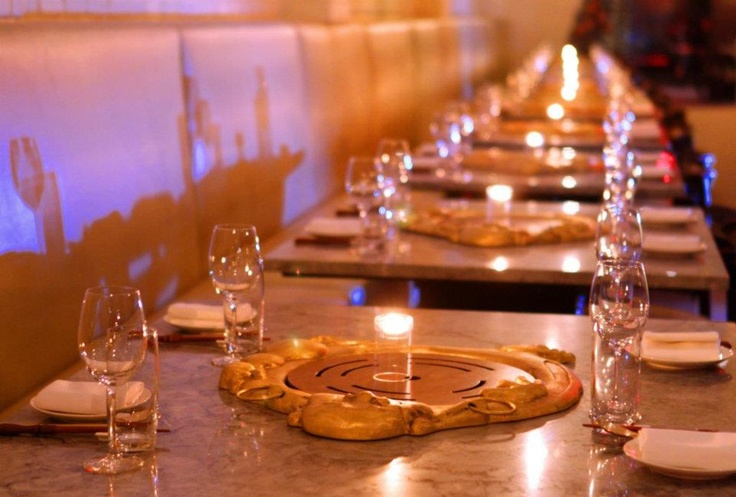 Cool Table Setting of Korean BBQ Restaurant