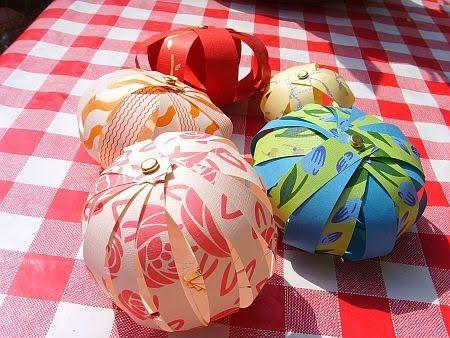 Borduurblog: Tutorial papieren ballen