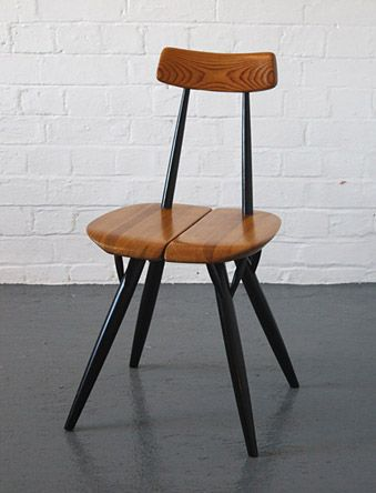 Pirkka dining chair, 1955 by Ilmari Tapiovaara for Asko in Finland