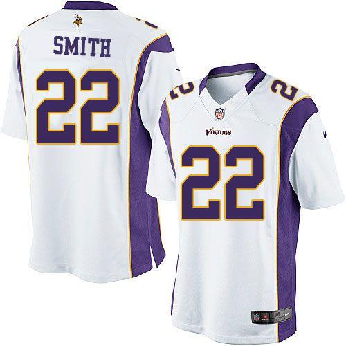 Men's Nike Minnesota Vikings #22 Harrison Smith Limited White NFL Jersey Sale