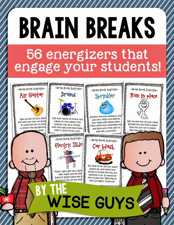 Classroom Energizer Ideas ~ Best ideas about brain breaks on pinterest kids