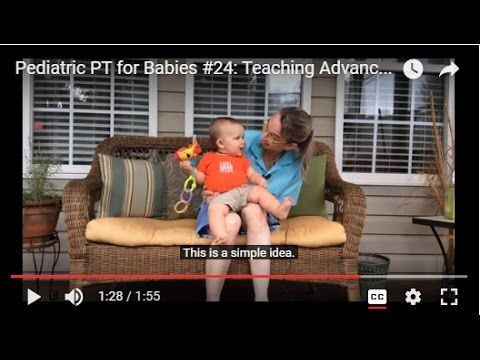 Pediatric PT for Babies #24: Teaching Advanced Sitting Balance Skills - YouTube