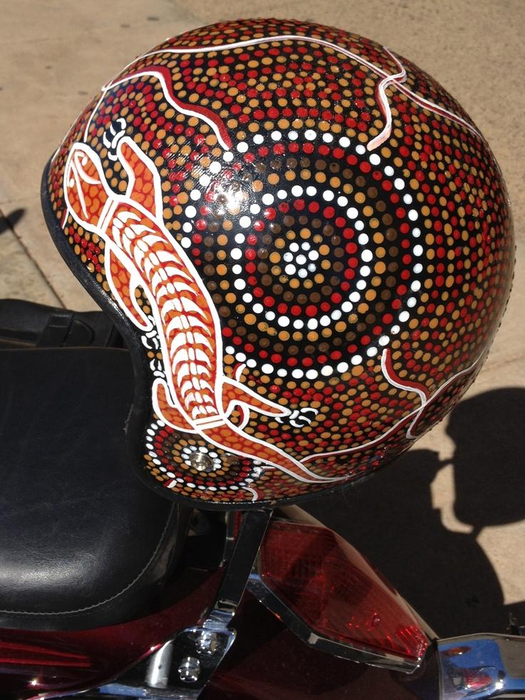 Aboriginal Dot painted Helmet