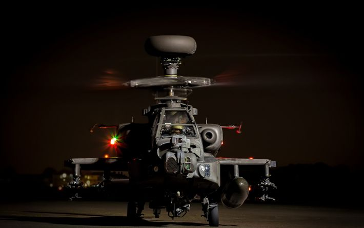 Download wallpapers McDonnell Douglas AH-64 Apache, American combat helicopter, US Army, military aviation, USA, Apache