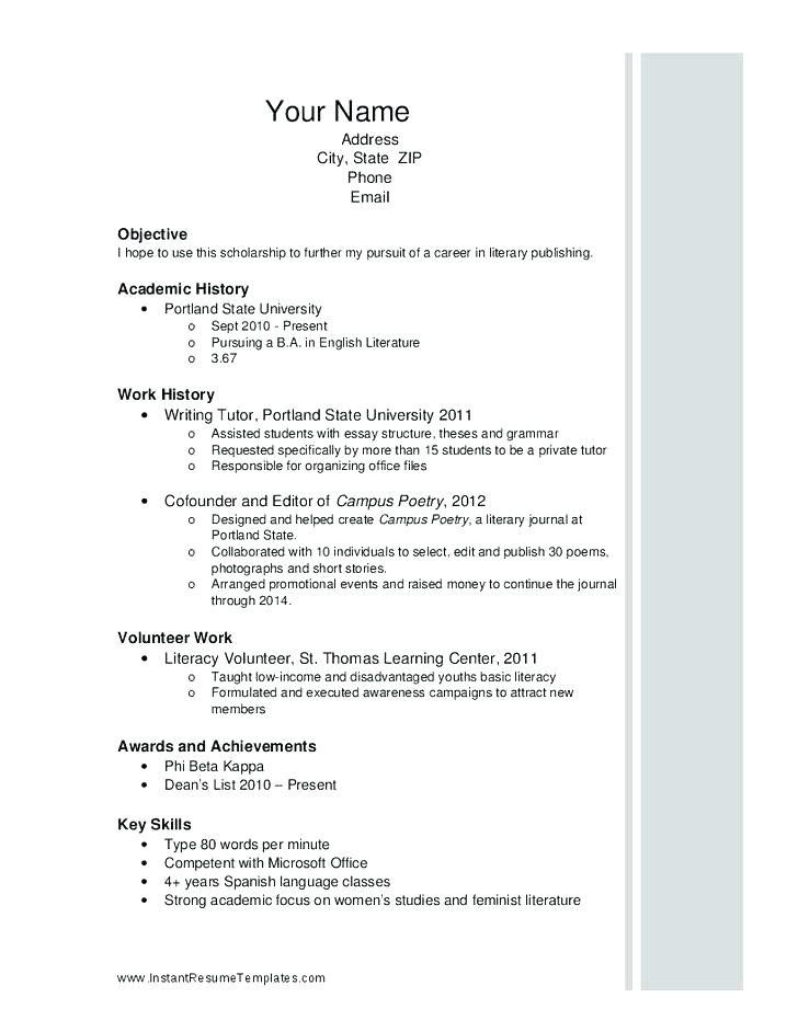 Scholarship Resume Samples Kahrersd7 In 2020 High School Resume Template High School Resume Student Resume Template
