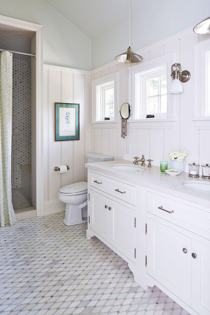 Coastal Bathroom Beach House, Designed by Sarah Richardson Design: Natalie Hodgins & Kate Stuart.. Absolutely flawless. Whether you're going to use this design in your Beachhouse, even if you're off the coast. Absolutely brilliant