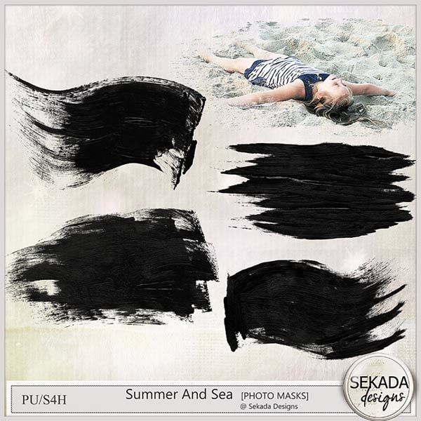 Personal Use :: Element Packs :: Summer And Sea - Photo Masks