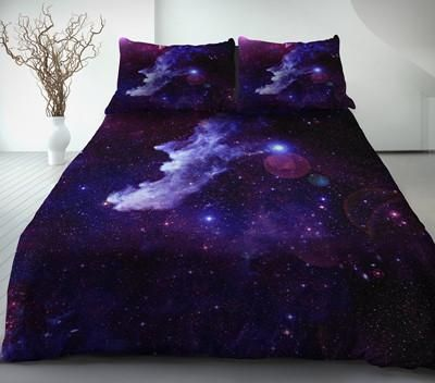 Purple Galaxy Bedding Set Purple Galaxy Duvet Cover And Pillowcases