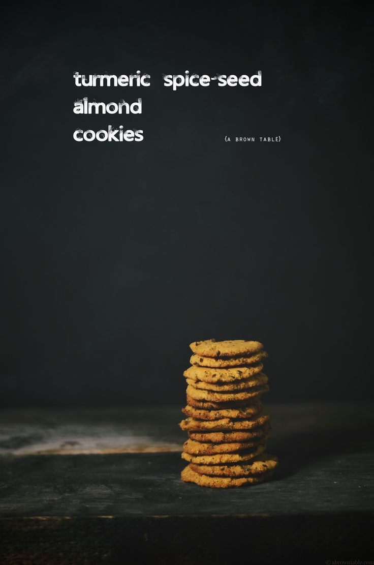 turmeric spice seed almond cookies {gluten free} | a brown table