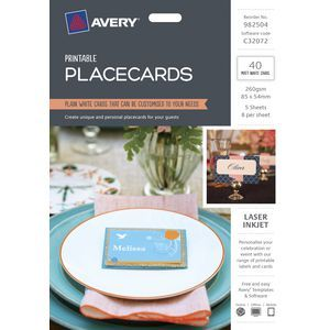 Create unique and personal placecards for your guests